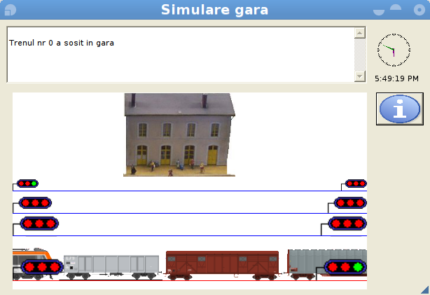 Train Station Management Simulation